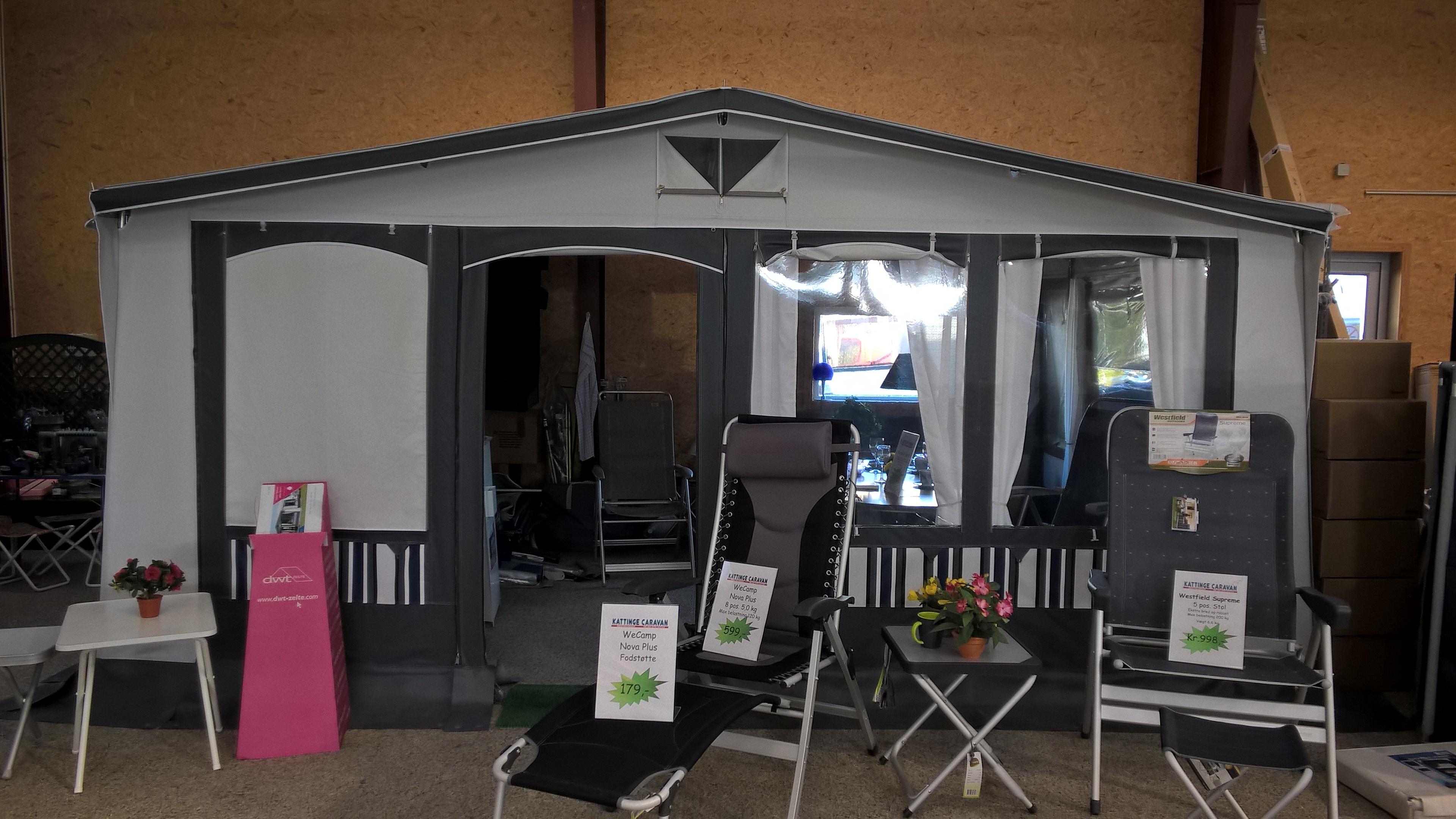 Nye og brugte telte til salg